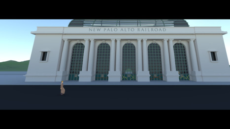 New Palo Alto railroad station